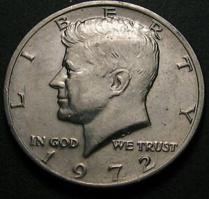 1972 KENNEDY HALF DOLLAR WITH DOUBLING ON THE REVERSE   12 PHOTOS