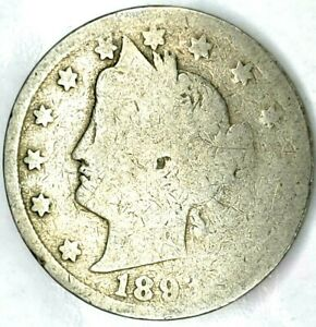 1893 P 5C LIBERTY HEAD NICKEL 20HS0314 70 CENTS SHIPPING