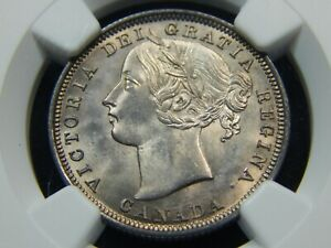 Click now to see the BUY IT NOW Price! 1858 20C CANADA TWENTY CENT PIECE MS 65 NGC ONLY 4 FINER  ONE YEAR TYPE