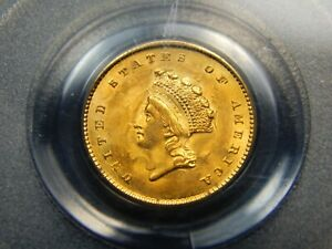 Click now to see the BUY IT NOW Price! 1854 G$1 TYPE 2 GOLD PRINCESS DOLLAR MS 64 PCGS LOOKS GEM  REALLY NICE