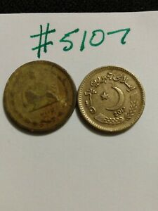 2 UNIDENTIFIED 'PENNY SIZED' ARABIC LANGUAGE COINS