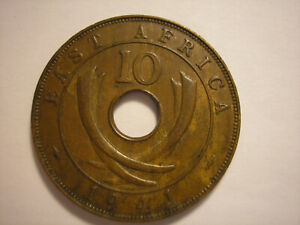 EAST AFRICA 1941 TEN CENTS BOMBAY I KING GEORGE VI KM 26.1 BRITISH