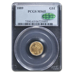 1889 $1 INDIAN HEAD GOLD MS 65 PCGS CAC   SKU132057