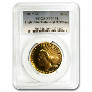 Click now to see the BUY IT NOW Price! 2019 W HIGH RELIEF AMERICAN LIBERTY GOLD SP 70 PL PCGS   SKU219128