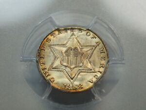 Click now to see the BUY IT NOW Price! 1858 3CS THREE CENT SILVER TRIME MS 67 PCGS AMAZING COIN  ONLY 3 FINER