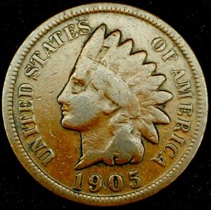 1905 P 1C INDIAN HEAD CENT 20LCT0818 70 CENTS SHIPPING