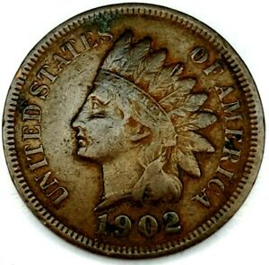 1902 P 1C INDIAN HEAD CENT 20RR0724 70 CENTS SHIPPING