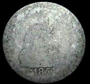 1854 P 25C SEATED LIBERTY QUARTER 90  SILVER 21CTO0226 70 CENTS SHIPPING