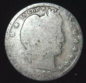 1898 P 25C BARBER QUARTER 90  SILVER 21OOH0226  70 CENTS SHIPPING
