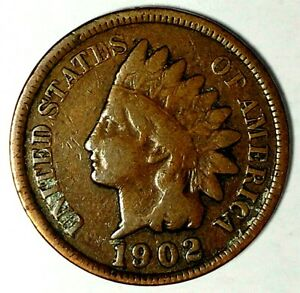 1902 P 1C INDIAN HEAD CENT 18RS1013 70 CENTS SHIPPING