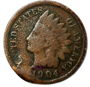 1904 P 1C INDIAN HEAD CENT 18CT0909 70 CENTS SHIPPING