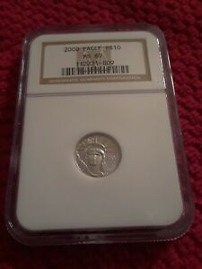 2000 1/10 OZ $10 PLATINUM EAGLE COIN MS69 NGC BETTER DATE LOW PRICE
