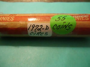 1972 D LINCOLN CENT CIRCS ROLL     > C/S & H AVAILABLE <
