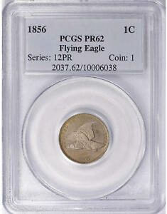Click now to see the BUY IT NOW Price! 1856 PROOF PR62 FLYING EAGLE CENT PCGS PR62 PF62 US COIN