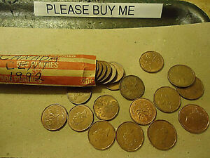1992 CANADA CENT ROLL    50 COINS      >>C/S & H AVAILABLE<<