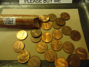 1980 P LINCOLN PENNY ROLL      > C/S & H AVAILABLE <