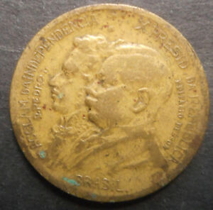 BRAZIL 1922 CENTENARY OF INDEPENDENCE 1000 REIS  COIN