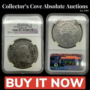 1800 DRAPED BUST SILVER DOLLAR NGC FINE DETAILS 10 ARROWS US COIN