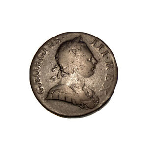 1770 NON REGAL GEORGE III HALFPENNY COLONIAL COIN. REVERSE LAMINATION