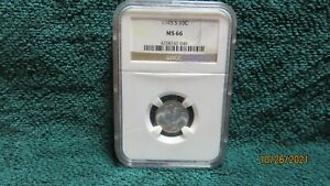 1945S MS66 NGC CERTIFIDED IN BRN.LABEL HOLDER BEAUTIFUL COIN