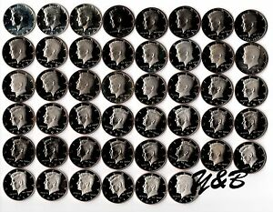 Click now to see the BUY IT NOW Price! 1968   2014   2015 S CLAD PROOF KENNEDY HALF DOLLAR COMPLETE SET US MINT RUN