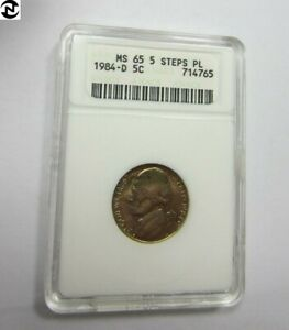 Click now to see the BUY IT NOW Price! 1984 D JEFFERSON NICKEL // ANACS MS65  5 FULL STEP  PL   PROOF LIKE