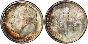 Click now to see the BUY IT NOW Price! 1947 S PCGS MS68 HIGH GRADE TONED ROOSEVELT DIME 10C EXCELLENT SPECIMEN TOP POP