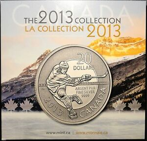 2013 COLLECTION HOLDER CARD FOR HOCKEY WOLF AND OTHER 20 FOR 20 SILVER COINS