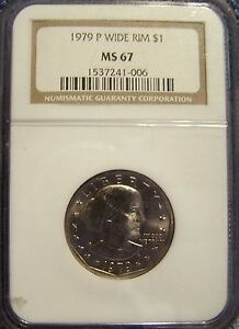 Click now to see the BUY IT NOW Price! NGC MS67 1979 P SBA$1 WIDE RIM SUSAN B. ANTHONY DOLLAR