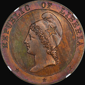 Click now to see the BUY IT NOW Price! THE KING OF LIBERIA 2 CENT PIECES 1862 2C NGC PF65 BN FINEST AT PCGS & NGC