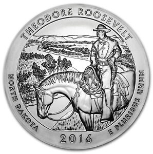 2016 5 OZ SILVER ATB THEODORE ROOSEVELT NATIONAL PARK ND   SKU 93726