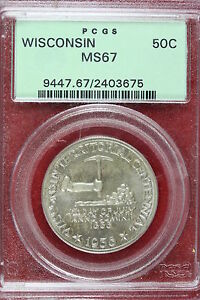Click now to see the BUY IT NOW Price! 1936 PCGS MS67 WISCONSIN COMMEMORATIVE HALF DOLLAR   C0012