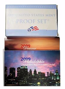 Click now to see the BUY IT NOW Price! 2009 US MINT CLAD PROOF & UNCIRCULATED COIN SET   LOT OF 3 SETS
