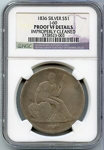 Click now to see the BUY IT NOW Price! 1836 GOBRECHT PROOF SILVER DOLLAR $1 J 60 JUDD 60   NGC PROOF VF DETAILS   JX186
