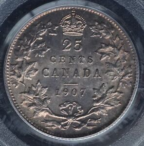 Click now to see the BUY IT NOW Price! CANADA   1907 TWENTY FIVE CENTS   PCGS MS65 CHOICE CONDITION