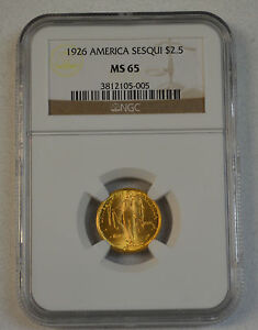 Click now to see the BUY IT NOW Price! NGC GRADED 1926 SESQUICENTENNIAL GOLD COMMEMORATIVE $2 1/2 MS65   NICE COIN