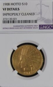 Click now to see the BUY IT NOW Price! NGC VF DETAILS 1908 WITH MOTTO INDIAN GOLD $10 EAGLE