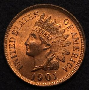 Click now to see the BUY IT NOW Price! 1901 INDIAN HEAD CENT PENNY BU UNC RD/RB RED/RED BROWN   MAKE AN OFFER