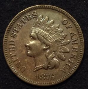 Click now to see the BUY IT NOW Price! 1876 INDIAN HEAD CENT PENNY VF/EF/XF   MAKE AN OFFER