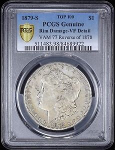 Click now to see the BUY IT NOW Price! 1879 S REVERSE OF 1878 MORGAN DOLLAR PCGS VF TOP 100 VAM 77A REV OF 78 PAF WOW