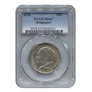Click now to see the BUY IT NOW Price! 1936 BRIDGEPORT CENTENNIAL HALF MS 67 PCGS   SKU 133163