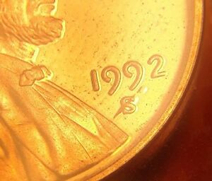 USA PROOF 1 CENT ERROR LONG PLATE BUBBLE GOING THROUGH THE S