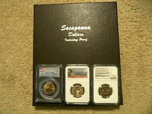 SACAGAWEA SET 2000  2016 PLUS 3  ENHANCED FINISH  COINS 2014 D 2015 W 2016 S