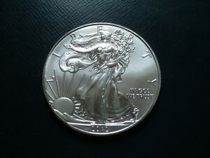 2012 AMERICAN 0.999 FINE UNCIRCULATED SILVER EAGLE BU BUSINESS UNCERTIFIED