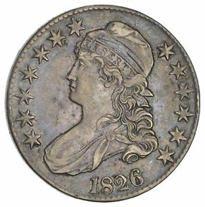 1826 CAPPED BUST HALF DOLLAR  CIRCULATED  2922