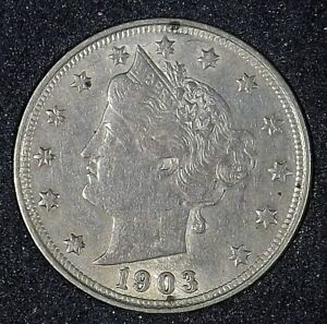 1903 LIBERTY NICKEL COLLECTIBLE VF/XF A