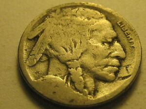1923 S BUFFALO NICKEL NICKS & GOUGES
