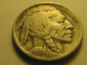 1924 D BUFFALO NICKEL VF