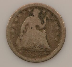 1854 LIBERTY SEATED HALF DIME ARROWS AT DATE  G62