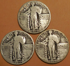 Click now to see the BUY IT NOW Price! STANDING LIBERTY QUARTERS THREE 90  SILVER 1925 1926 1930